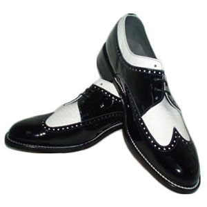 Black And White Wing Tip Tuxedo Shoes